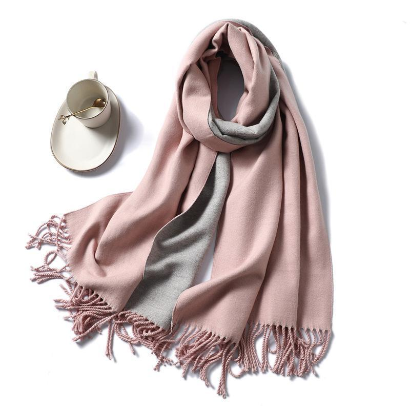 Trento 2-Sided Cashmere Scarf(50% OFF)