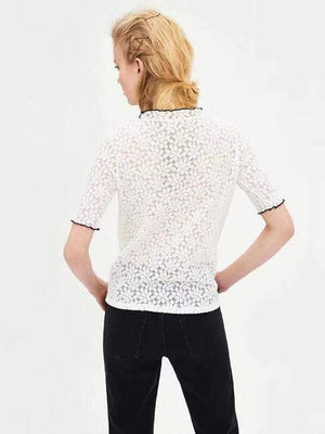 Lace Short Sleeve Blouse