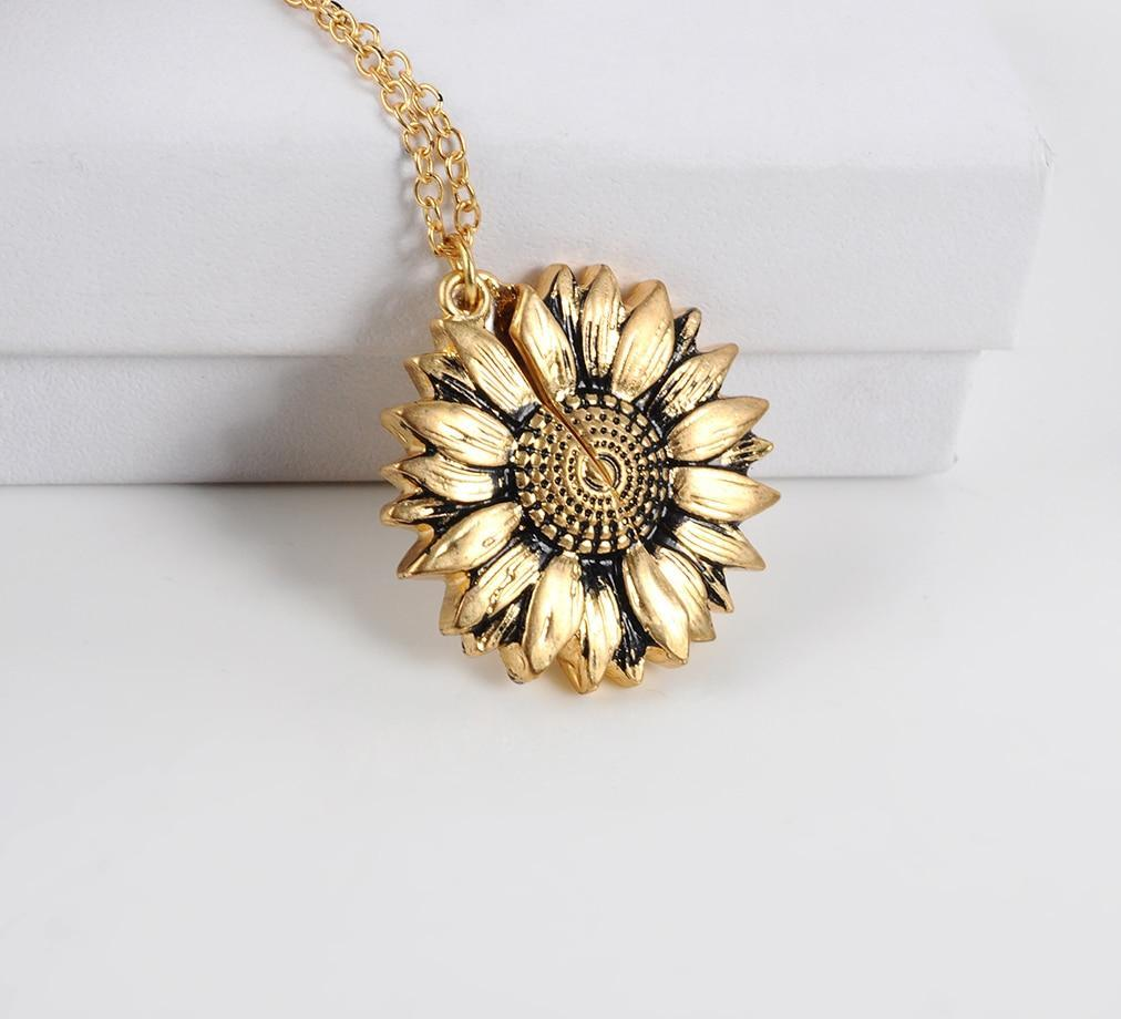"""You Are My Sunshine"" Sunflower Pendant"