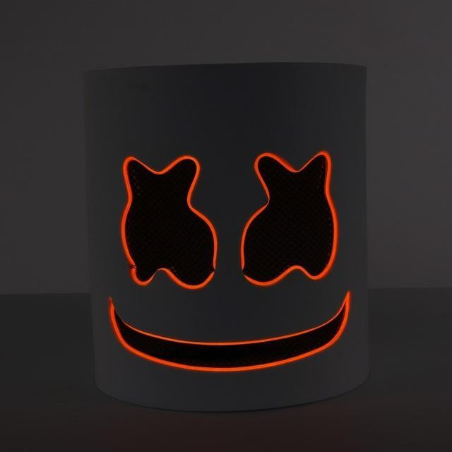 LED Light Halloween DJ Mask