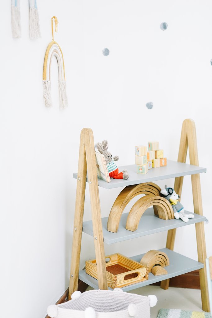 A-Frame Kids Clothes Hanger with Shelf Conversion