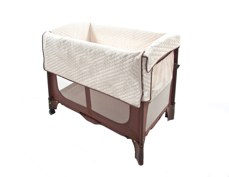 Mini Arc Convertible Co-Sleeper® Solid w/o Skirt - Cocoa Natural