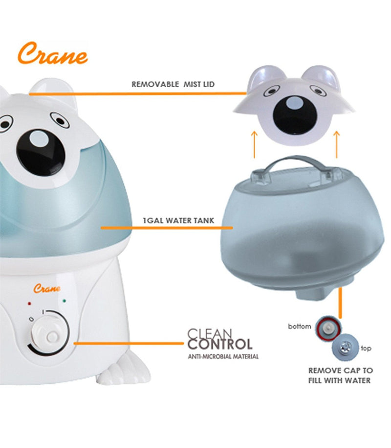 Adorable Cool Mist Humidifier Chauncy the Polar Bear