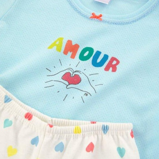 Amour Short Sleeve Pajama Set