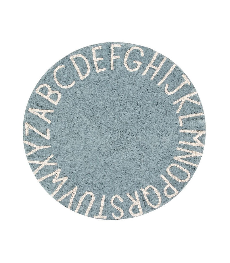 Washable Rug Round ABC