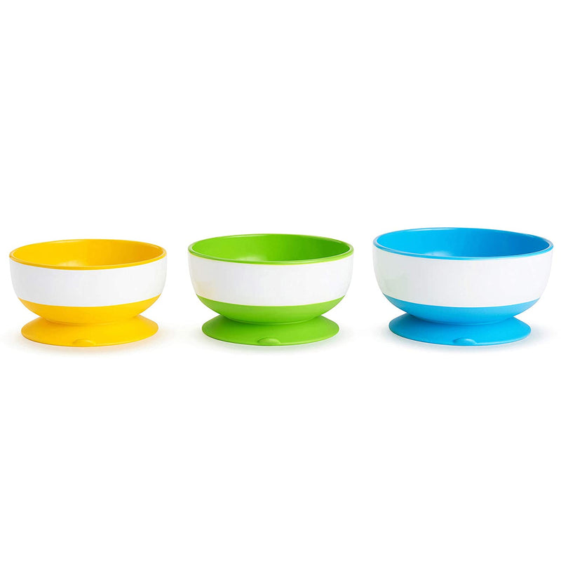 Stay Put Suction Bowl, 3-Pack