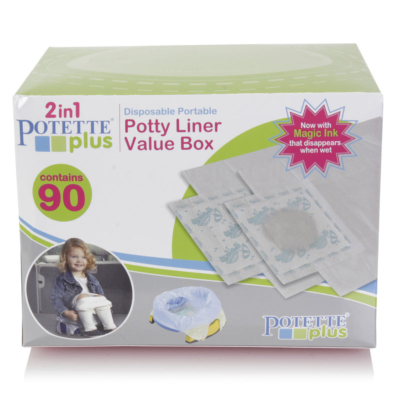 2in1 Potette Plus Disposable Potty Liners, 90pack