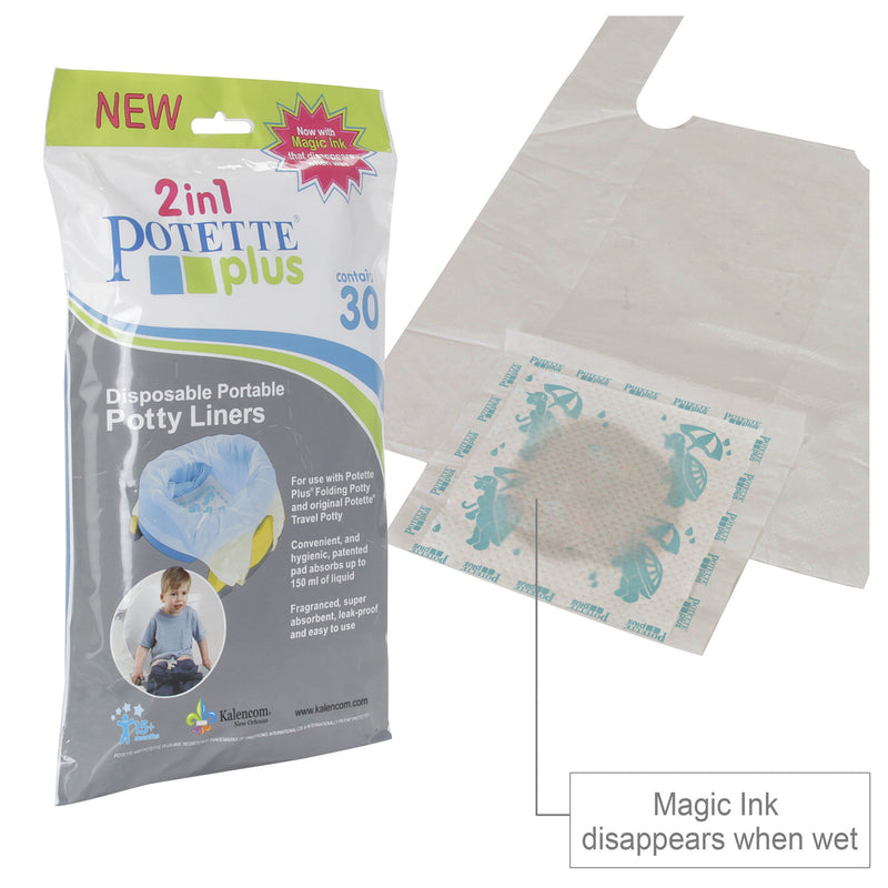2in1 Potette Plus Disposable Potty Liners, 30pack