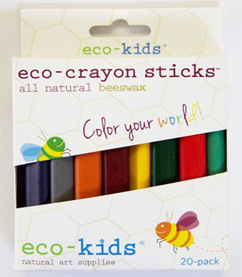 Eco-Crayon Sticks, 20-pack