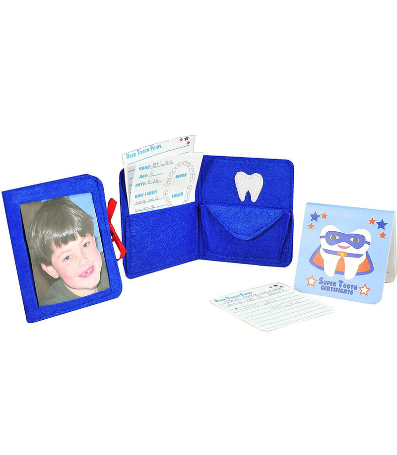 Tooth Fairy Superhero Pillow with Notepad and Keepsake Pouch