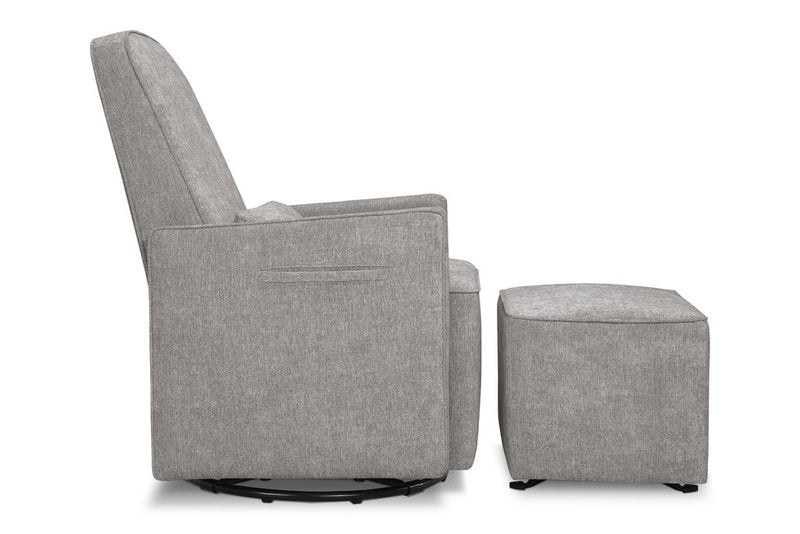 Sierra Swivel Glider With Gliding Ottoman and Side Pocket