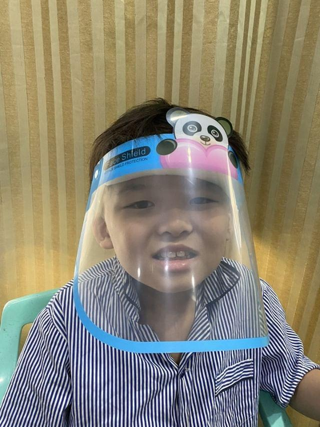 High Quality Protective Anti-Droplet Character Face Shield for Kids