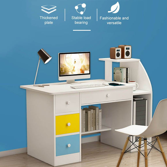 Computer Desk With Drawer Shelf Office