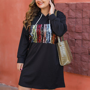 Casual loose colorblock dress