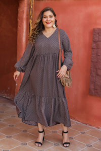 New sexy V-neck cotton and linen dress