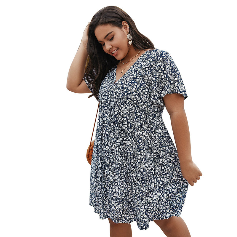Printed loose dress