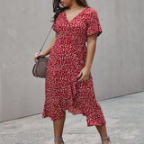 Small floral ruffle dress