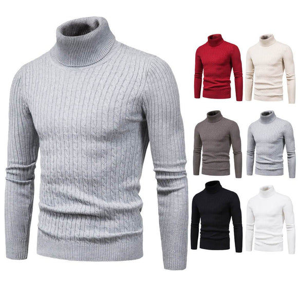 Men's knitted turtleneck sweater