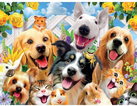 Happy Animal 1000-Piece Puzzle