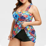Flowers print push up swimwear