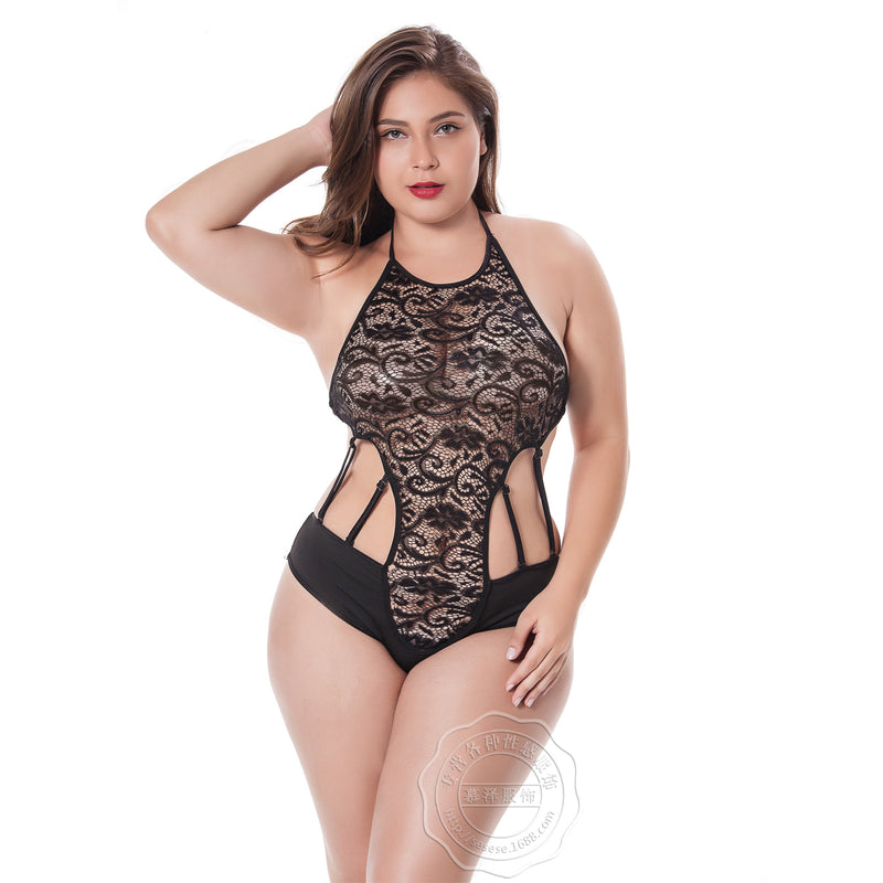 Personality perspective bare back lace belly band