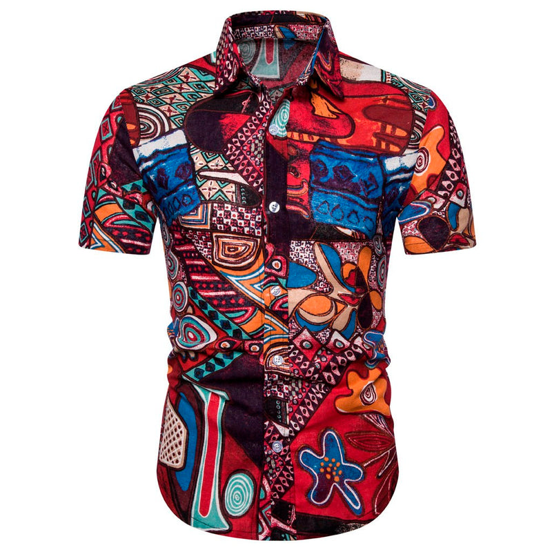 Mens Ethnic Short Sleeve