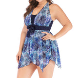 Women push up print swimsuit