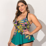 Tummy Control Ruched Tankini Set