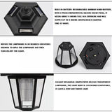 Solar Power LED Light  Way Wall Landscape Mount Garden Fence Lamp Outdoor