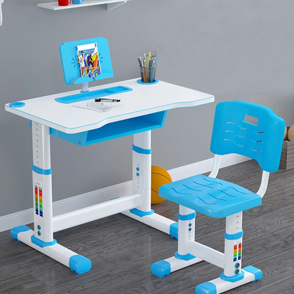 Children Study Desk Table &Chair Drawing Set Bookstand