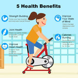 Indoor Fitness Bicycle Ultra-quiet Exercise Bike Home Bicycle Fitness Equipment