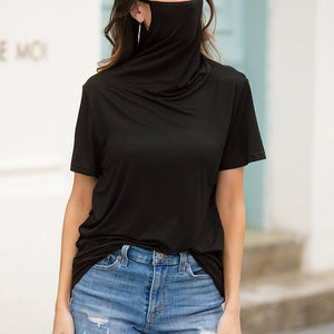 CASUAL LOOSE ROUND NECK SHORT SLEEVE