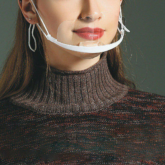 Transparent Anti-Droplet Face Mouth Mask