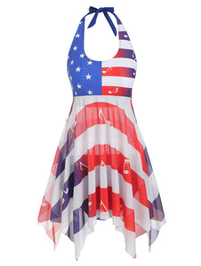 American Flag Musical Note Tankini Swimsuit