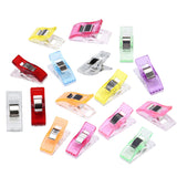 50 PCS Colorful Sewing Craft Quilt Binding Plastic Clips Clamps Pack