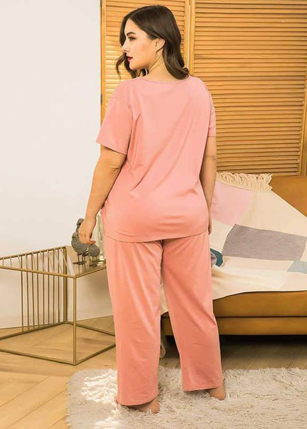 Loose Confortable Pink One Set Nightdress