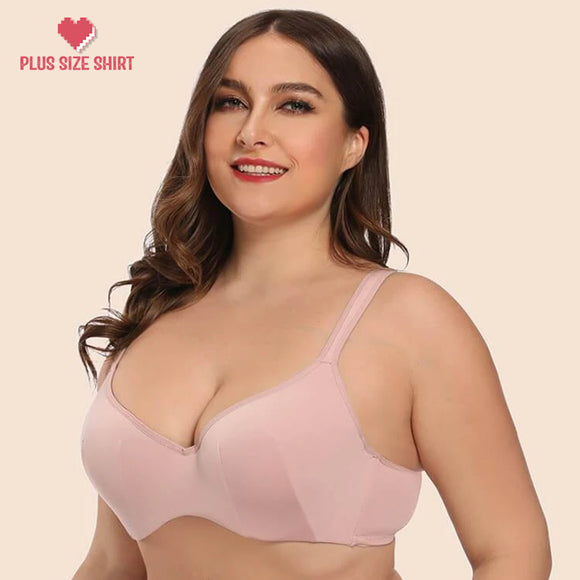 Full Figure Side Support Contour Smooth Underwire T-Shirt Bra