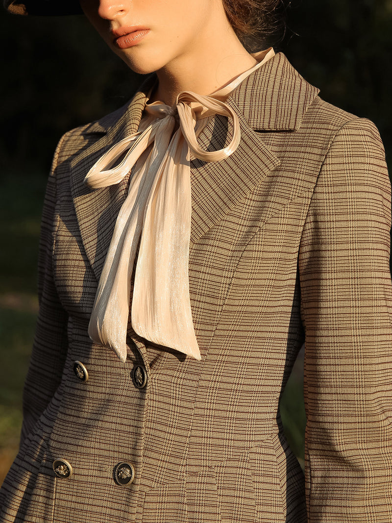Queen check-pattern jacket - SINCETHEN