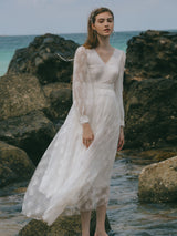 Ceremony Pearl Long Dress - SINCETHEN
