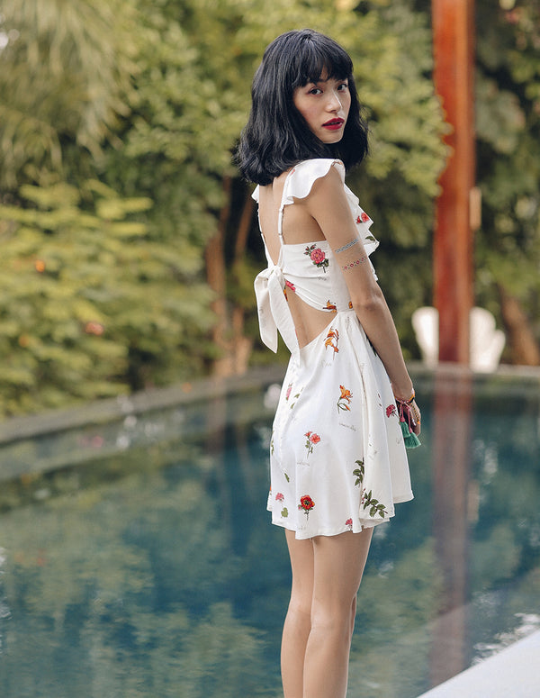 Flower Squeeze Mini Dress