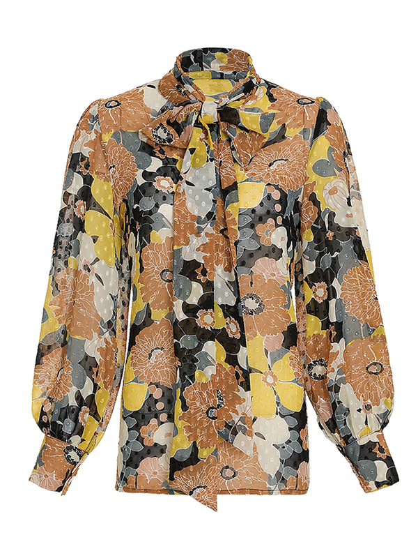 Moody flower blouse - SINCETHEN