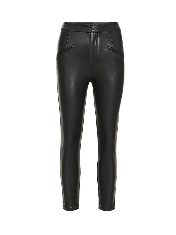 Rock leather pants