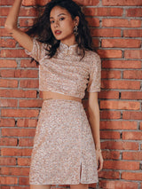 Spangle Top & Skirt Set - SINCETHEN
