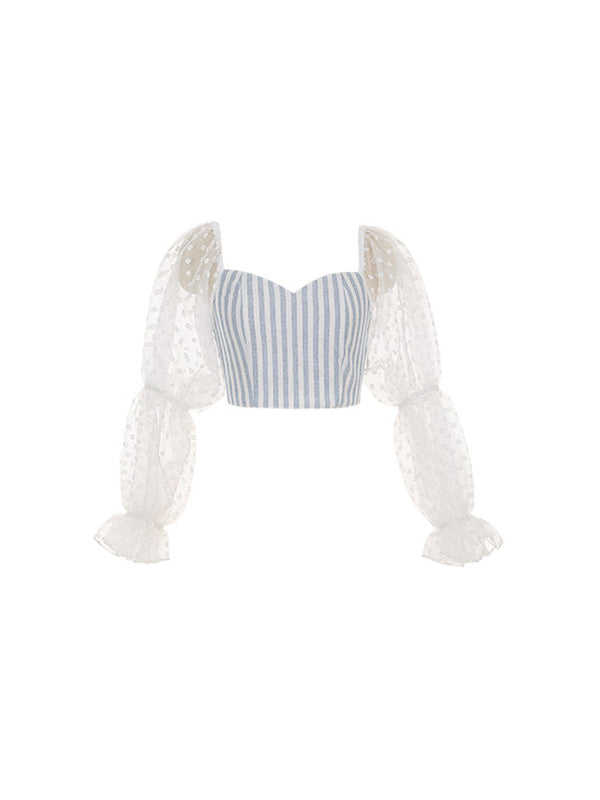 Vono Vono Lace-Sleeve Top - SINCETHEN