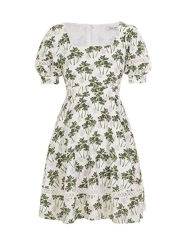 Paml Tree Short-Dress - SINCETHEN