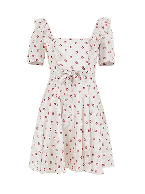 Cherry Juu chiffon Dress - SINCETHEN