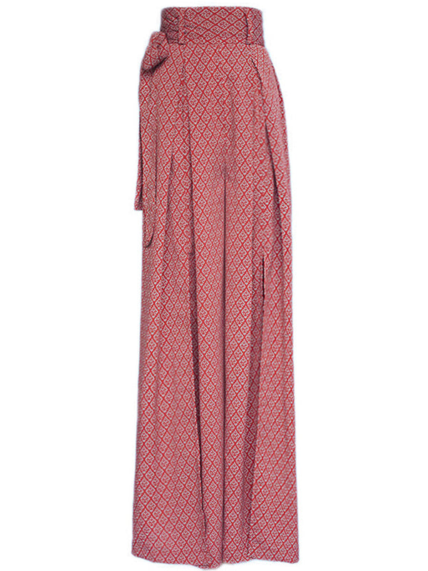 Check Patten Incised Long Wide Pants - SINCETHEN