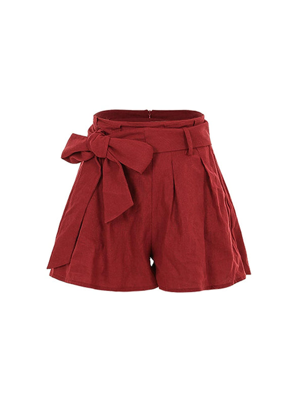 Ghini Ribbon-Belt Short Pants - SINCETHEN