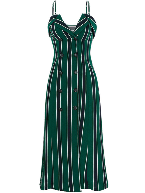 Jade Stripe Sleeveless Dress