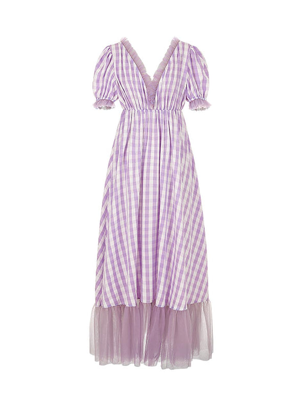 Eden Check-Pattern Dress - SINCETHEN